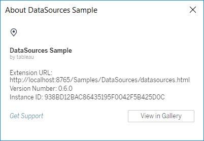 Release Notes for the Tableau Extensions API