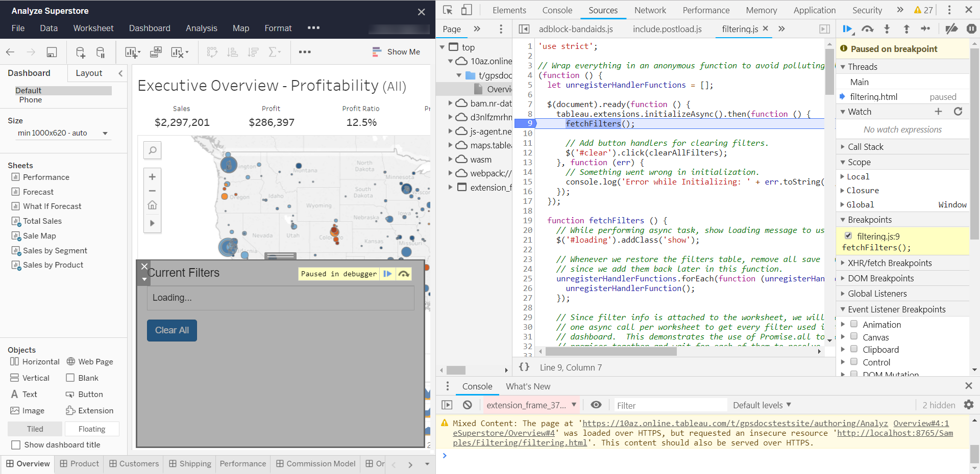 Debug Extensions in Tableau Server and Tableau Online